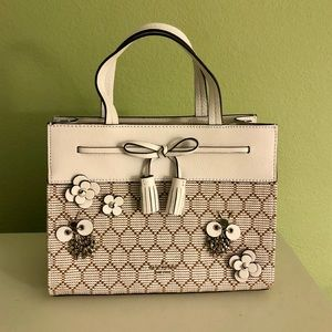 Kate Spade Hayes Bee Embellished Satchel Natural